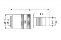a) Spojka se standardním trnem - s ventilem