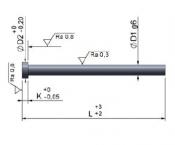 Rozměry v palcích nitridované EES2CP