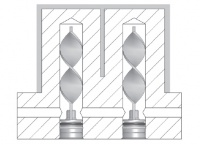 3) Přepážky chlazení spirálové - VNĚJŠÍ - série F (RLS-..F)