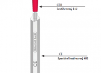 D) Aplikační nářadí pro vnější chladicí prvky - Speciální šestihranný klíč (CE)